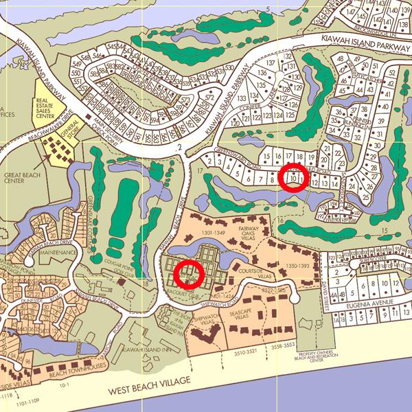 Map Of Kiawah Island Golf Resort